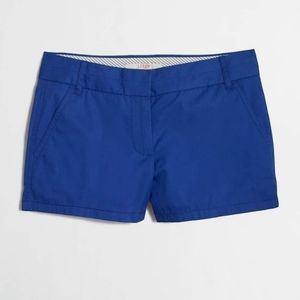 "J Crew 3"" Women's Chino Shorts - City Fit - Blue"